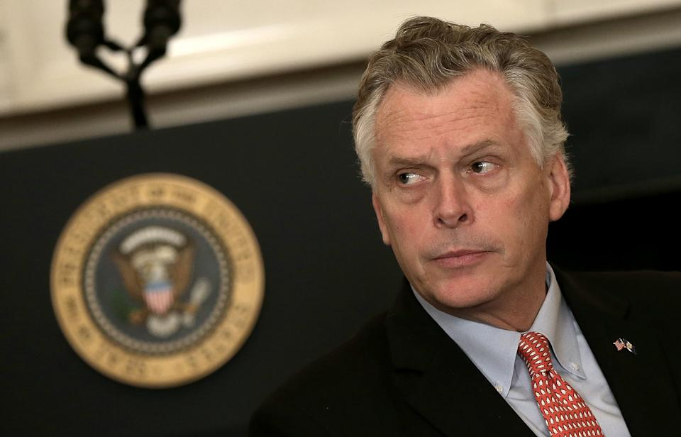 WASHINGTON, DC - FEBRUARY 23:  Virginia Gov. Terry McAuliffe (D-VA) waits for U.S. President Barack Obama to address members of the National Governors Association at the White House February 23, 2015 in Washington, DC. Obama's meeting with the nation's governors comes just days before the Department of Homeland Security's $40 billion budget is set to expire.  (Photo by Win McNamee/Getty Images)