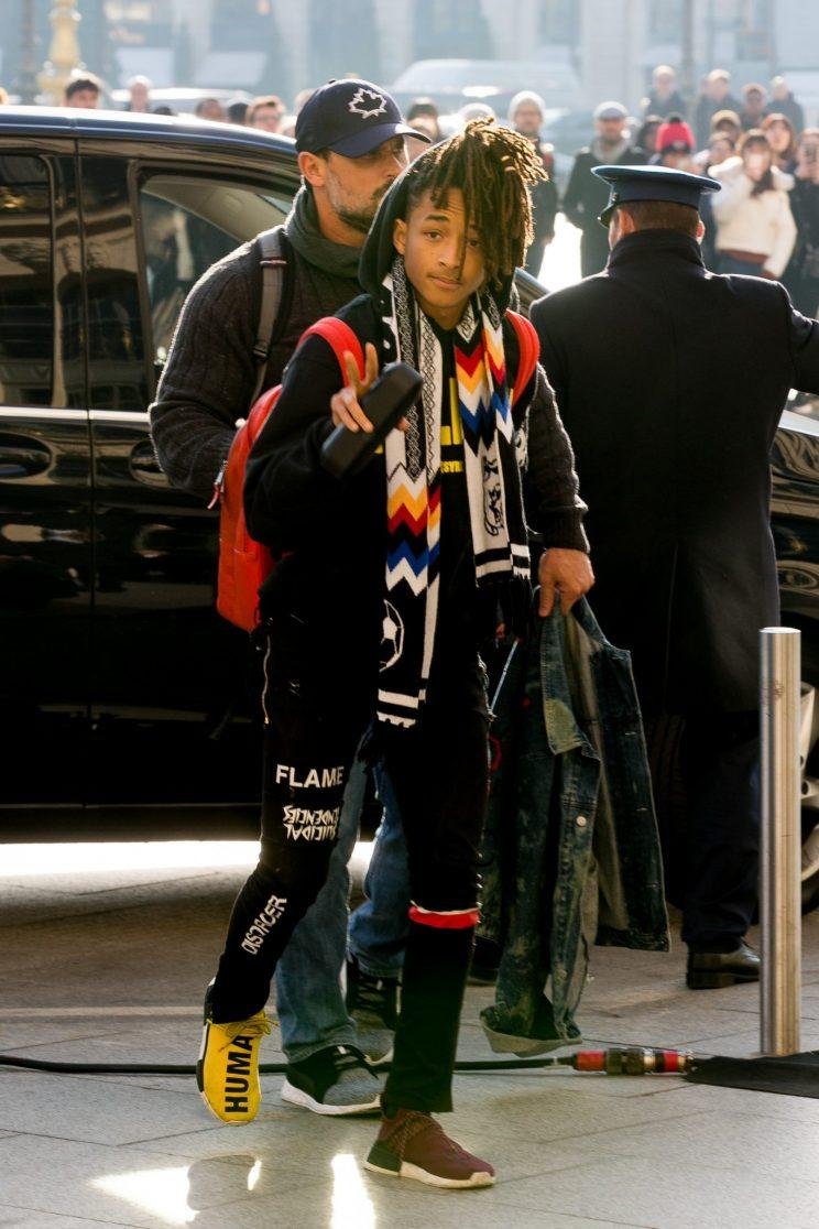 Jaden Smith arriving at the Chanel Métiers D'Art show on December 6, 2016. (Photo: Getty Images)