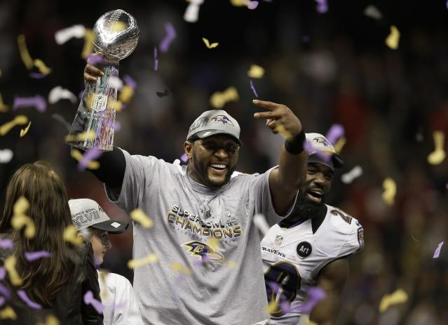 Ray Lewis will be formally inducted into the Hall of Fame this summer. (AP)