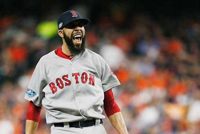 David Price's first postseason win as a starter was a big one as he helped the Boston Red Sox advance to the World Series. (Getty Images)