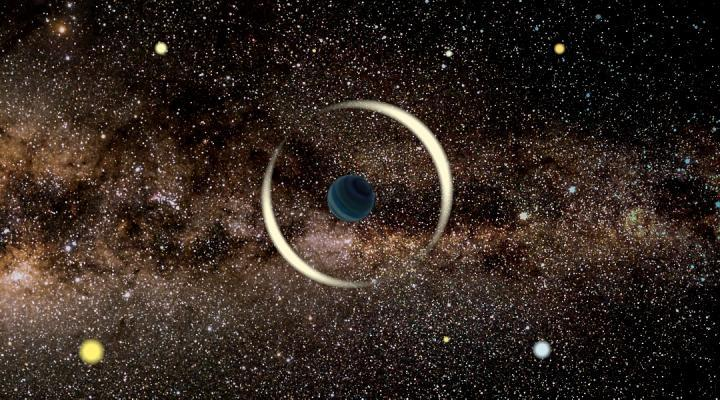 The rogue planet is not bound by gravity to any star (University of Warsaw)