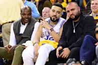 Rapper French Montana attends a game betwen Golden State Warriors and Houston Rockets during Game Two of the Western Conference Semifinals of the 2019 NBA Playoffs on April 30, 2019 at ORACLE Arena in Oakland, California. (Photo by Noah Graham/NBAE via Getty Images)