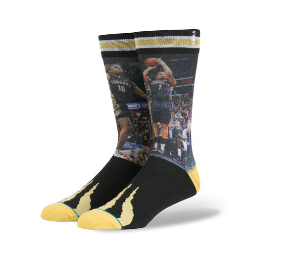 DeMar DeRozan and Kyle Lowry are getting the sock treatment. (Stance.com)
