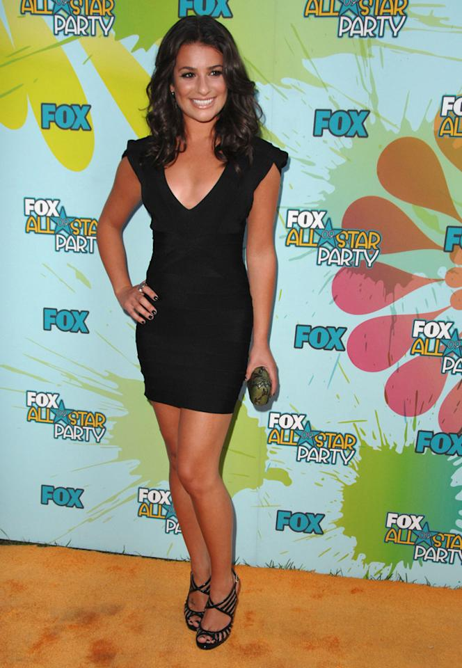 Lea Michele arrives at the 2009 TCA Summer Tour's Fox All-Star Party at The Langham Resort on August 6, 2009 in Pasadena, California.