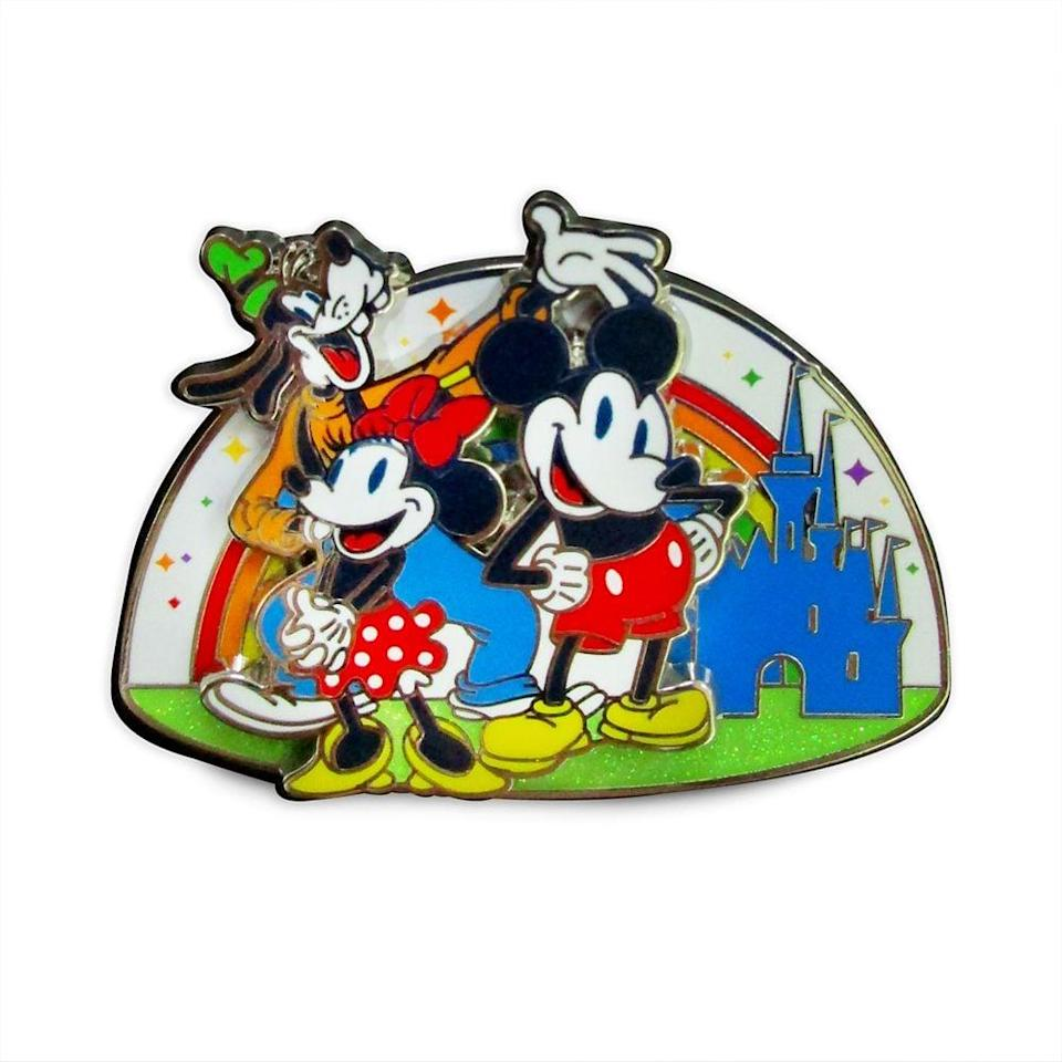 <p>The <span>Mickey Mouse and Friends Pin</span> ($13) features Mickey, Minnie, and Goofy.</p>