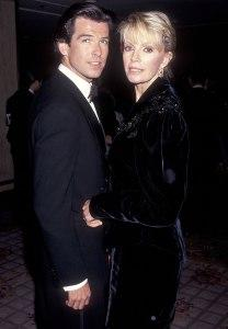 Pierce Brosnan and wife Cassandra Harris (1991)