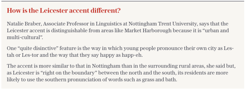 How is the Leicester accent different?