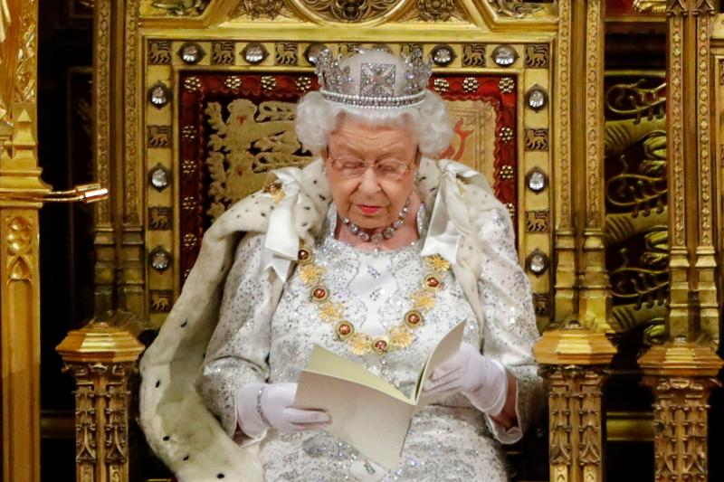 Queen Elizabeth II reads the Queen's Speech in the House of Lords on Monday (Picture: AFP/Getty)