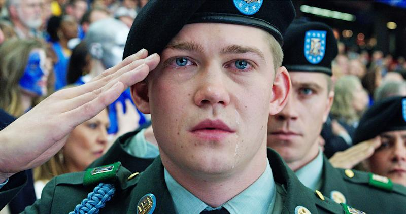 Despite eye-popping technology, Ang Lee's war drama 'Billy Lynn's Long Halftime Walk' can't overcome its clunky screenplay, writes Us Weekly Film Critic Mara Reinstein