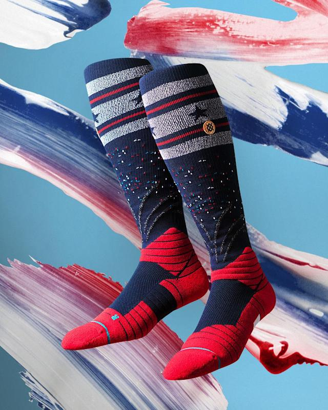Players also have the option of wearing socks with a fireworks design, while a stars & stripes patch will adorn home and road jerseys during games on July 4. The Toronto Blue Jays will sport their red alternate jerseys with red Maple Leaf caps on Canada Day – July 1.