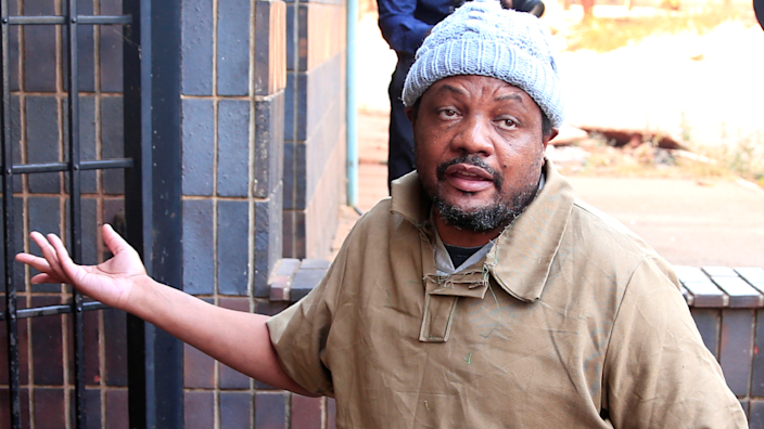 Zimbabwean journalist Hopewell Chin'ono arriving at court in Harare, Zimbabwe - 7 August 2020