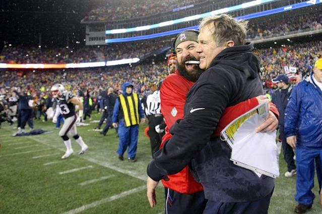 Matt Patricia embraces the use of tablets. Bill Belichick does not. (Getty Images)