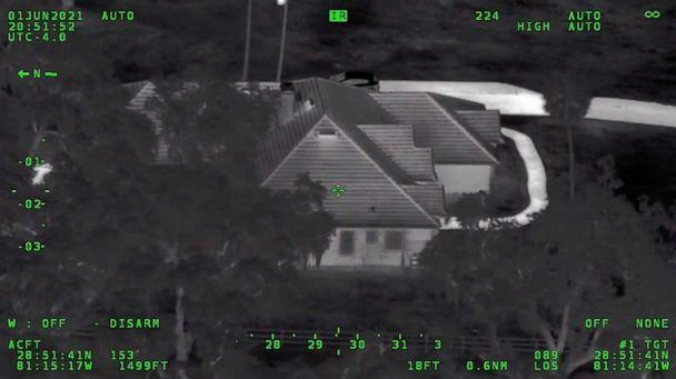 PHOTO: An image from police aerial footage shows the house where two armed children held police at bay, June 1, 2021, in Enterprise, Fla. (Volusia County Sheriff's Dept.)