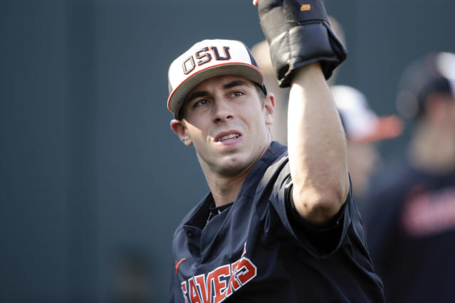 Will Oregon State pitcher Luke Heimlich get an opportunity with the Kansas City Royals? (AP)