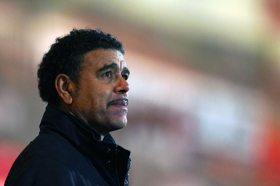 Sky Sports pundit Chris Kamara during the Sky Bet League One match at the Keepmoat Stadium, Doncaster. Picture date: Tuesday January 26, 2021. (Photo by Zac Goodwin/PA Images via Getty Images)