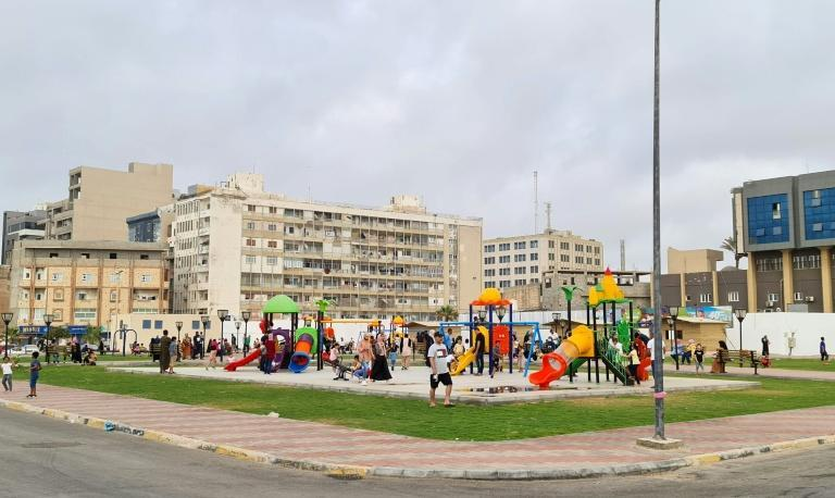 Four years ago, Tripoli authorities decided to turn the former barracks into a public park with five-a-side football fields, running and cycling tracks, picnic tables, a play area for children and grassy sections