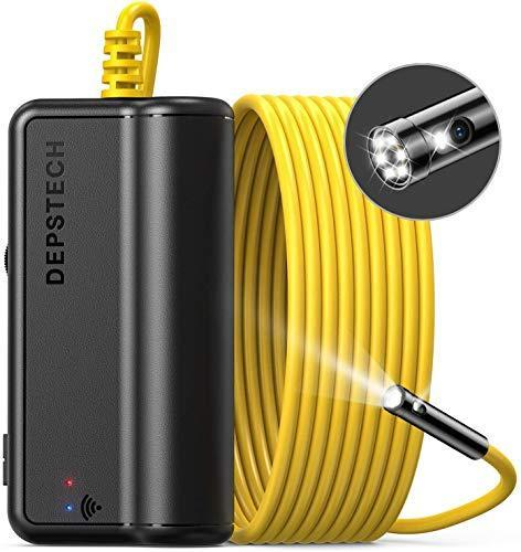 DEPSTECH Dual Lens Wireless Endoscope, 1080P Scope Camera with 7 LED Lights, 0.31In Lens Video…