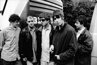 """<p>Oasis photographed in The Netherlands in 1994. From left to right: Tony McCarroll, Paul """"Bonehead"""" Arthurs, Noel Gallagher, Liam Gallagher, Paul """"Guigsy"""" McGuigan.</p>"""