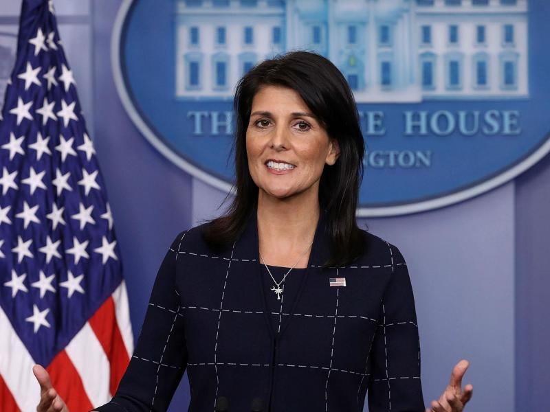 US ambassador to the UN Nikki Haley warns the Trump administration may pull out from the UN Human Rights Council: Getty