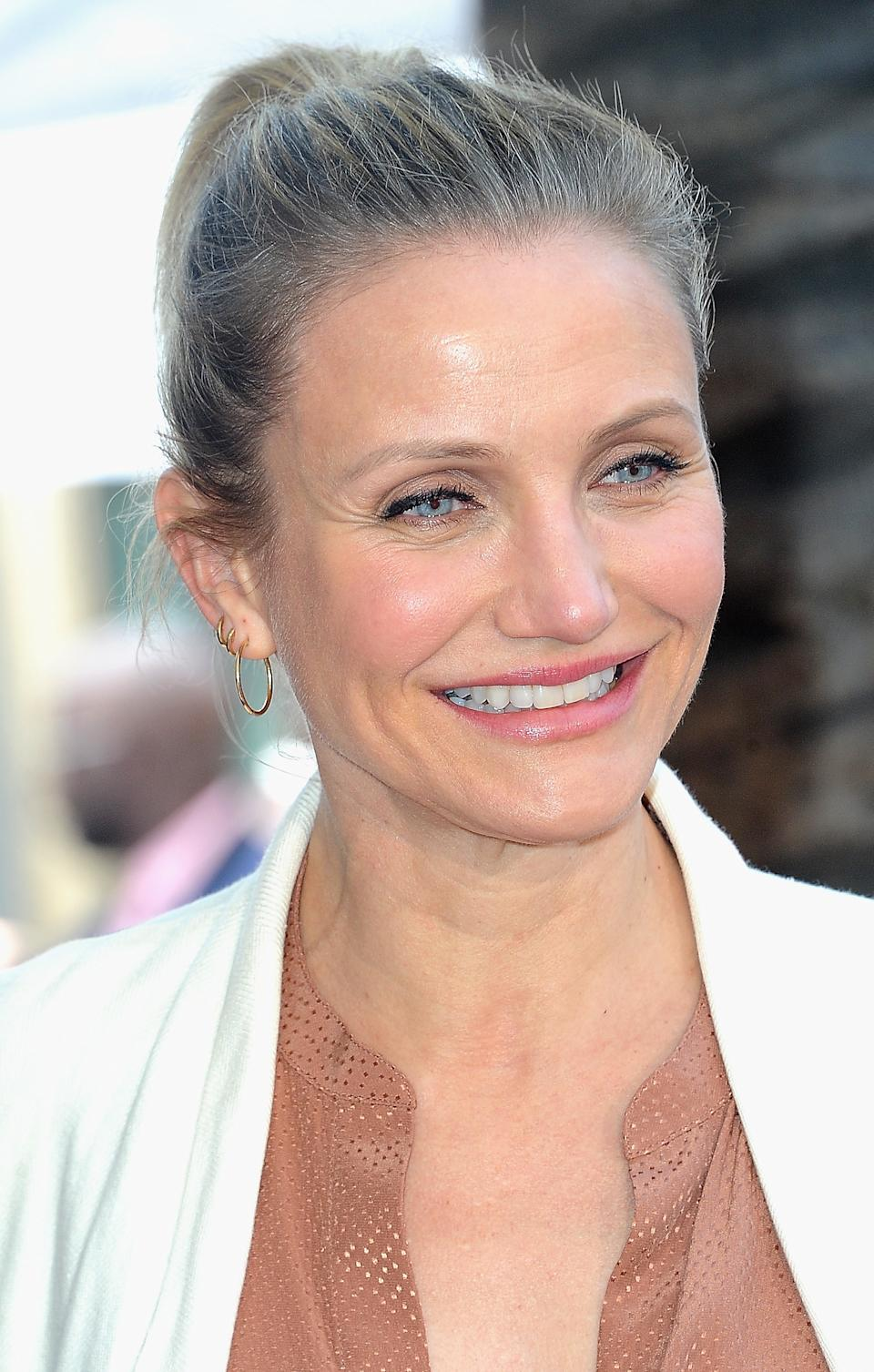 HOLLYWOOD, CA - MAY 01:  Cameron Diaz at Lucy Liu's Star Ceremony On The Hollywood Walk Of Fame held on May 1, 2019 in Hollywood, California.  (Photo by Albert L. Ortega/Getty Images)