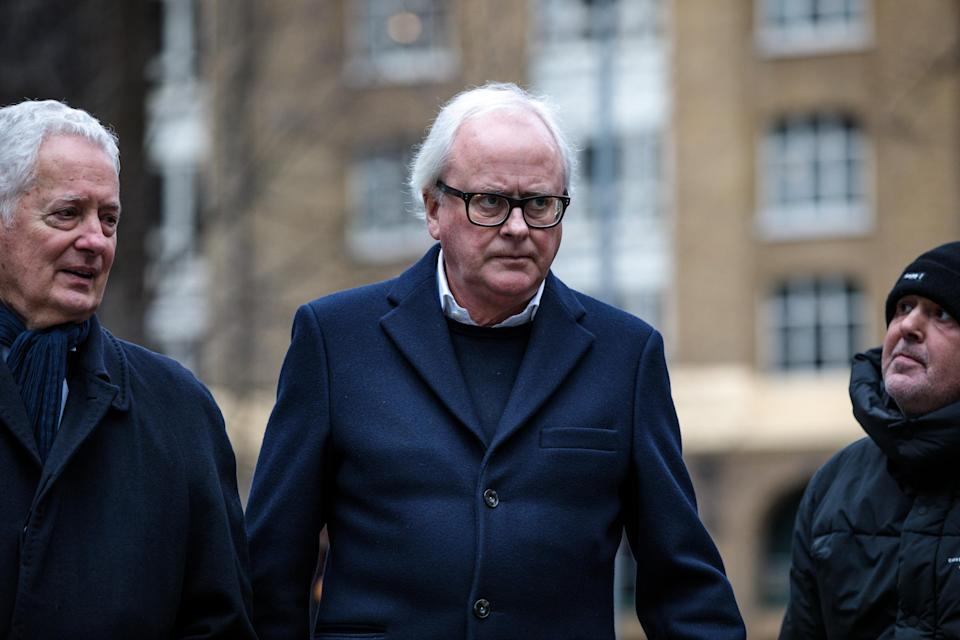Fighting charges: Former chief executive of Barclays John Varley (C) arrives at Southwark Crown Court on January 14, 2019 in London, England. Photo: Jack Taylor/Getty Images.