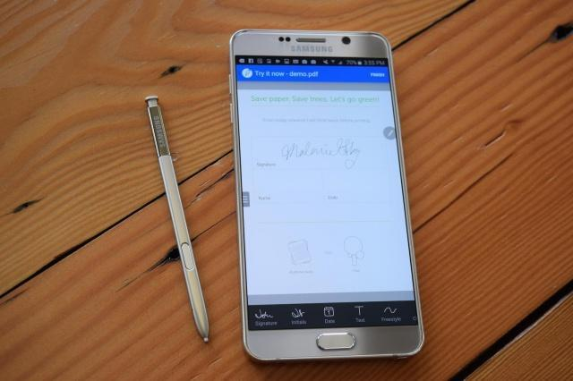 Sign Easy Note5 app