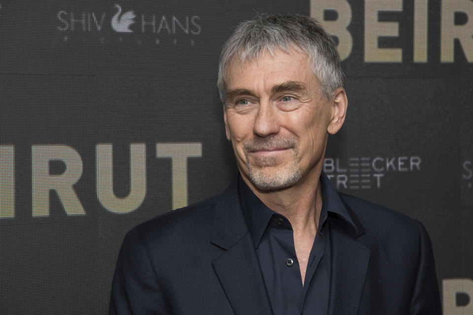 "Tony Gilroy attends a screening of ""Beirut"" at the Robin Williams Center on Tuesday, April 10, 2018, in New York. (Photo by Charles Sykes/Invision/AP)"