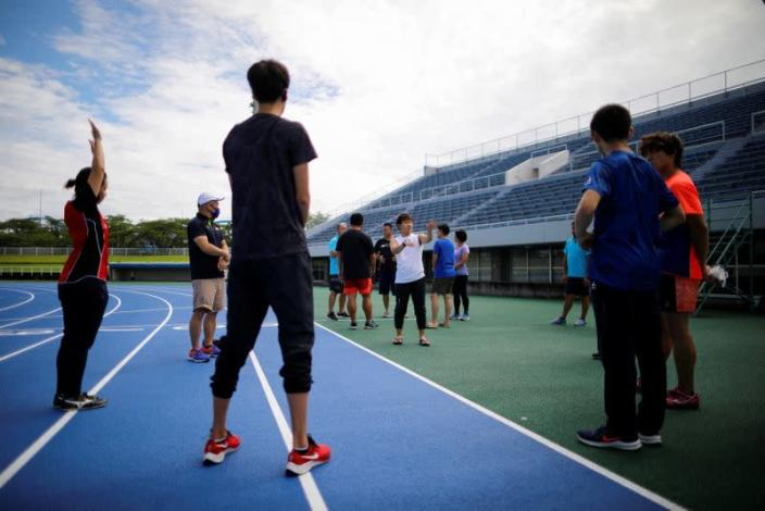 So Sato, a deaf and transgender pole vaulter, takes part in a camp training with other deaf athletes in Utsunomiya, Japan