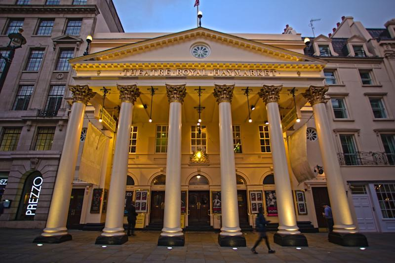 Theatre Royal Haymarket: The lease for the Grade I-listed playhouse went on sale last month: Damian Crook