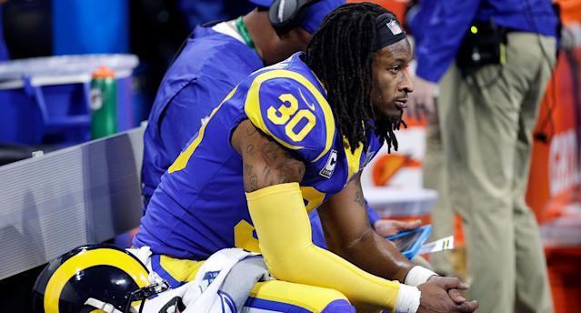 Todd Gurley had limited carries in the postseason, and now we may know why. (AP)