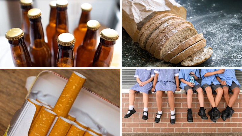 How much will your smokes, beer, bread, and children's school shoes cost in a decade? (Source: Getty)