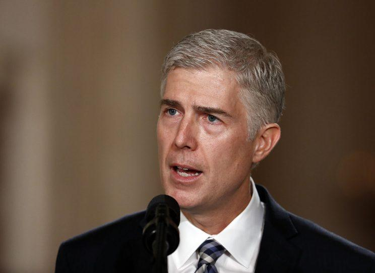 Judge Neil Gorsuch speaks in the East Room of the White House in Washington, Tuesday, Jan. 31, 2017, after President Donald Trump announced Gorsuch as his nominee for the Supreme Court. (Photo: Carolyn Kaster/AP)