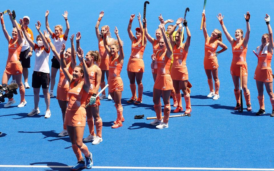 Feeling a bit chippy - the Netherlands who beat GB 5-1 in the semi final - GETTY IMAGES