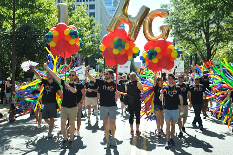 IHG employees celebrating Atlanta Pride. Photo: IHG