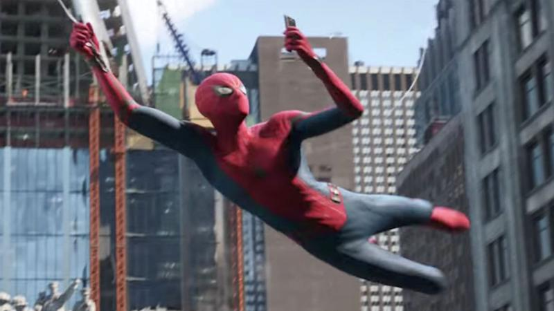 Tom Holland as Spider-Man (Credit: Sony)