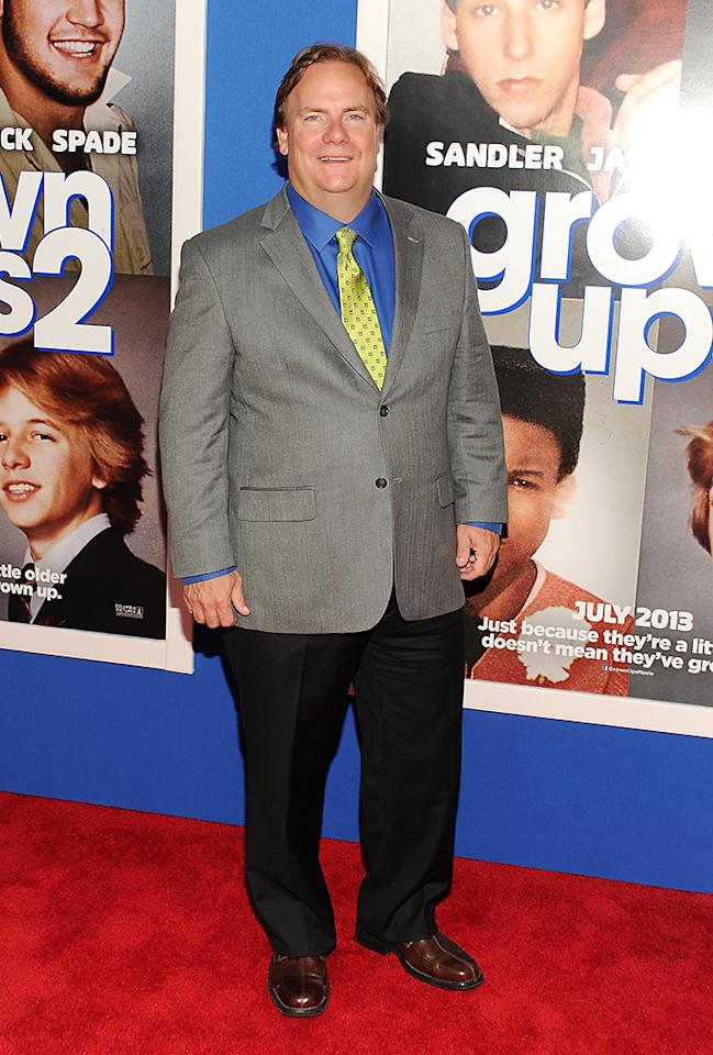 """Actor Kevin Farley attends the premiere of """"Grown Ups 2"""" at the AMC Loews Lincoln Square on Wednesday, July 10, 2013 in New York. (Photo by Evan Agostini/Invision/AP)"""