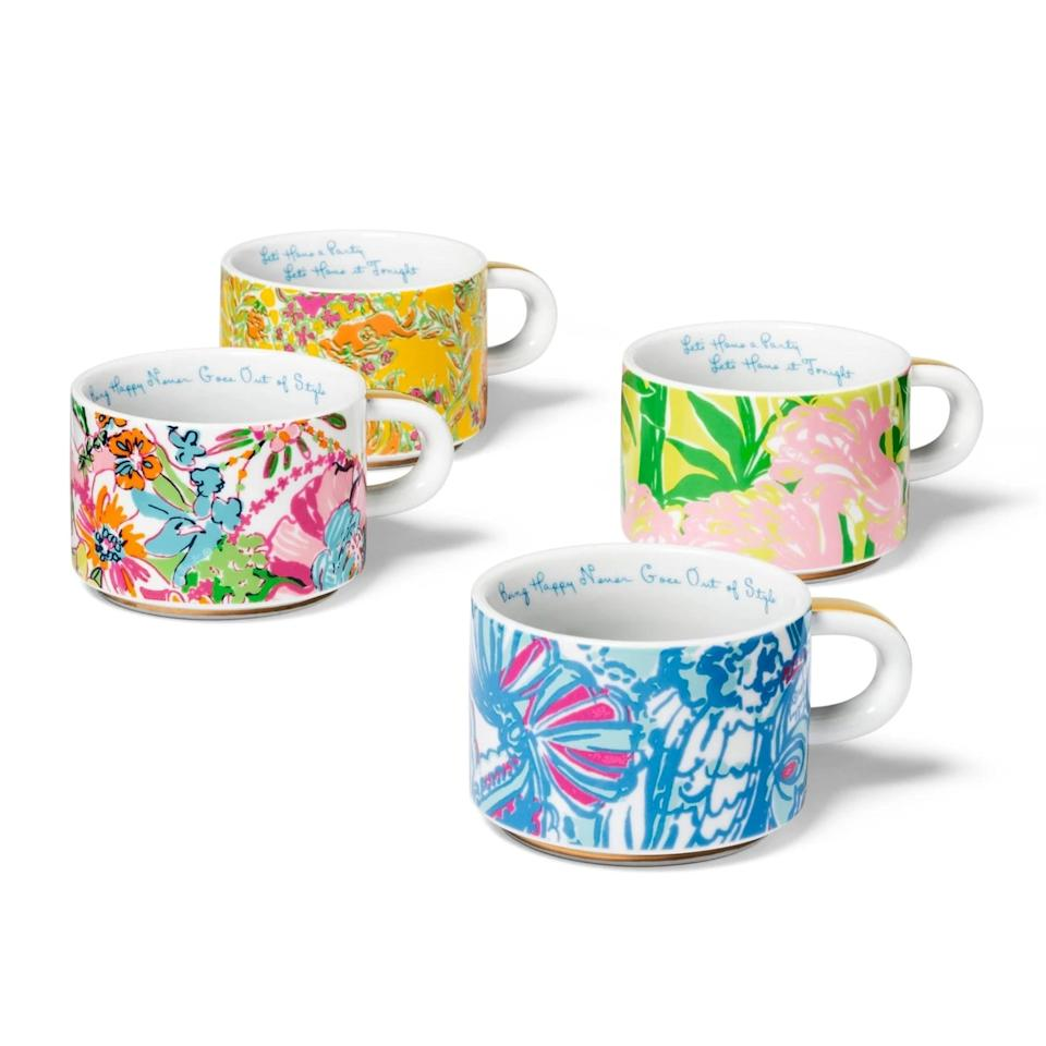 """<p>Tea time is the best time when you have these brightly colored <a href=""""https://www.popsugar.com/buy/Lilly-Pulitzer-Porcelain-Stacking-Espresso-Mugs-489340?p_name=Lilly%20Pulitzer%20Porcelain%20Stacking%20Espresso%20Mugs&retailer=target.com&pid=489340&price=30&evar1=casa%3Aus&evar9=46595841&evar98=https%3A%2F%2Fwww.popsugar.com%2Fphoto-gallery%2F46595841%2Fimage%2F46599729%2FLilly-Pulitzer-Porcelain-Stacking-Espresso-Mugs&list1=target&prop13=api&pdata=1"""" rel=""""nofollow"""" data-shoppable-link=""""1"""" target=""""_blank"""" class=""""ga-track"""" data-ga-category=""""Related"""" data-ga-label=""""https://www.target.com/p/5pc-8-8oz-porcelain-stacking-espresso-mugs-with-stand-lilly-pulitzer-for-target/-/A-54519492"""" data-ga-action=""""In-Line Links"""">Lilly Pulitzer Porcelain Stacking Espresso Mugs</a> ($30).</p>"""