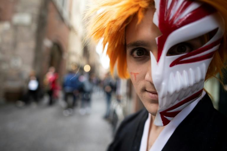 The historic Tuscan city of Lucca plays host to thousands of Halloween cosplayers (AFP Photo/Tiziana FABI)
