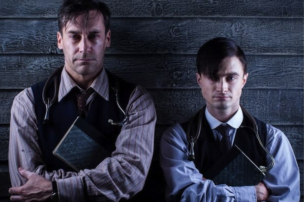 Jon Hamm: 'Young Doctor's Notebook' Co-Star Daniel Radcliffe 'Doesn't Have to Work This Hard'