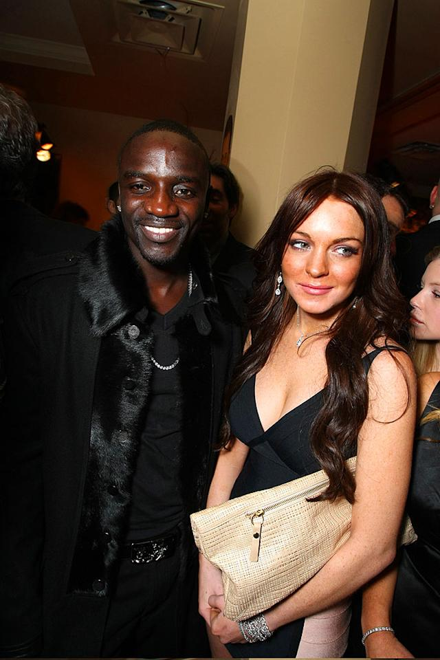 "Perhaps Lindsay Lohan asked rapper Akon to make a guest appearance on her upcoming album, which is scheduled for a summer release. Eric Charbonneau/<a href=""http://www.wireimage.com"" target=""new"">WireImage.com</a> - February 10, 2008"