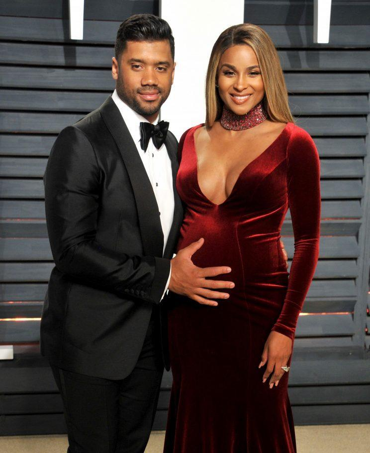 BEVERLY HILLS, CA - FEBRUARY 26: Russell Wilson and Ciara arrive for the Vanity Fair Oscar Party hosted by Graydon Carter at the Wallis Annenberg Center for the Performing Arts on February 26, 2017 in Beverly Hills, California. (Photo: Getty Images)