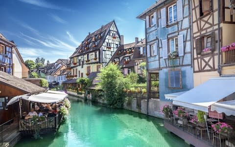 The town of Colmar in eastern France - Credit: Getty