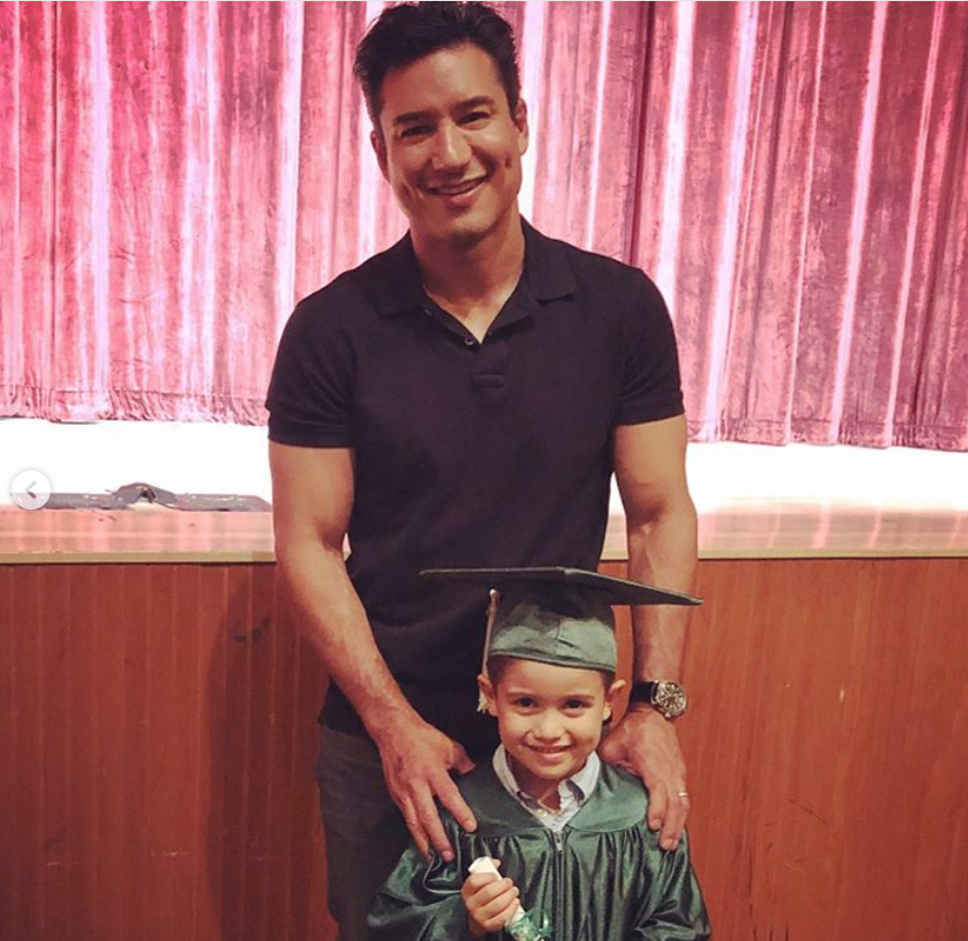 """We now have a kindergartner!!!! Time sure is flying by. Congrats my handsome boy!!!"" Courtney Lopez shared of <a href=""https://www.instagram.com/p/BzBbIkfgIan/"">her son's graduation</a> alongside a pic with beaming dad Mario."