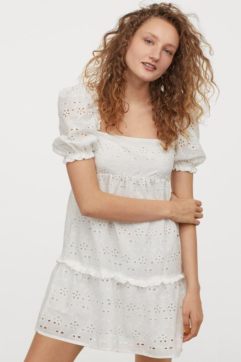 """<p>This <a href=""""https://www.popsugar.com/buy/HampM-Eyelet-Embroidery-Dress-570661?p_name=H%26amp%3BM%20Eyelet%20Embroidery%20Dress&retailer=www2.hm.com&pid=570661&price=18&evar1=fab%3Aus&evar9=34827432&evar98=https%3A%2F%2Fwww.popsugar.com%2Ffashion%2Fphoto-gallery%2F34827432%2Fimage%2F47508843%2FHM-Eyelet-Embroidery-Dress&list1=shopping%2Cdresses%2Csummer%20fashion&prop13=mobile&pdata=1"""" class=""""link rapid-noclick-resp"""" rel=""""nofollow noopener"""" target=""""_blank"""" data-ylk=""""slk:H&amp;M Eyelet Embroidery Dress"""">H&amp;M Eyelet Embroidery Dress </a> ($18) is an awesome deal.</p>"""
