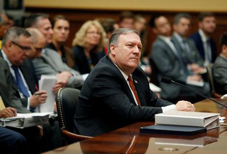 U.S. Secretary of State Mike Pompeo testifies at a hearing of the U.S. House Foreign Affairs Committee on Capitol Hill in Washington U.S
