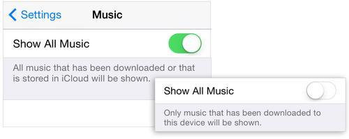 iPhone music settings