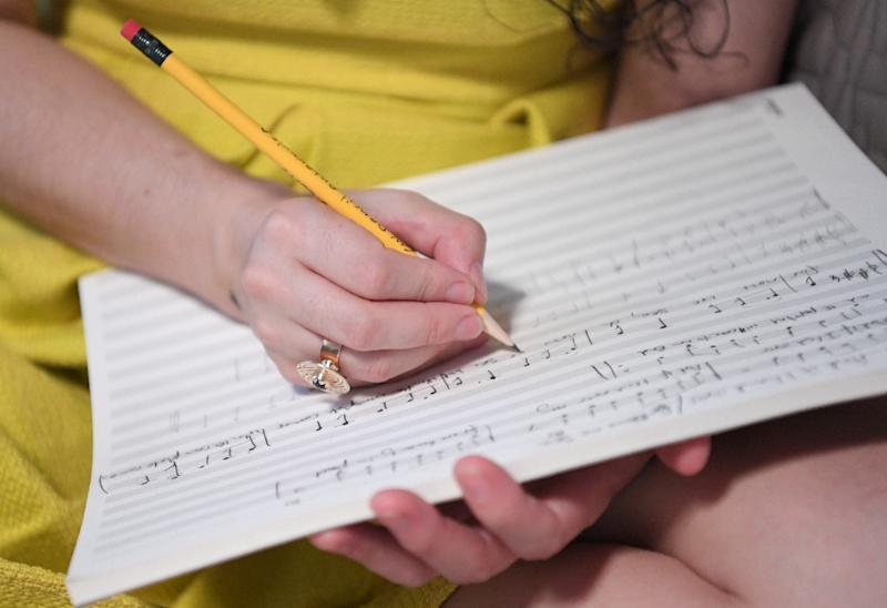 The project will include a score by Ysanne Spevack in E Major and visuals in yellow -- judged to be the happiest of keys and colors (AFP Photo/Angela Weiss)