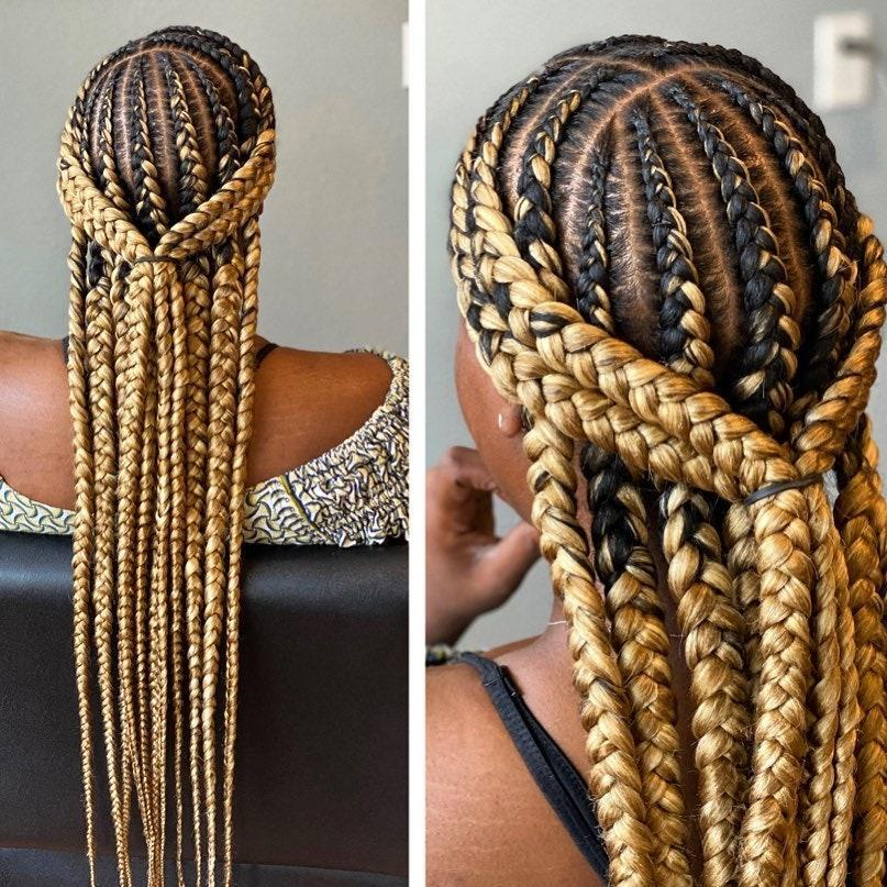 Who says your braids need to be just one color? Add some blond to your dark hair if you're looking for a nonpermanent change.