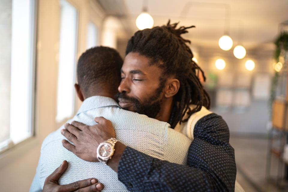 Expressing love to one another helps men build stronger and more meaningful relationships. (Photo: FG Trade via Getty Images)
