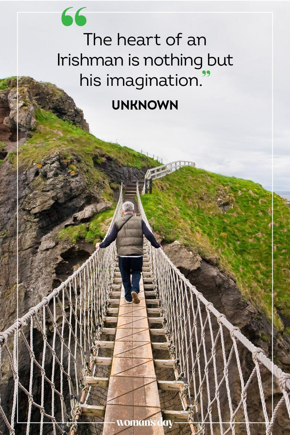 """<p>""""The heart of an Irishman is nothing but his imagination."""" — George Bernard Shaw</p>"""
